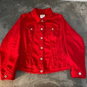 Torrid red trucker denim jacket, 3
